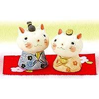 雛人形 コンパクト 人形師の手造り雛人形 濱田ひろこ作 猫ひな祭り