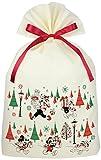 インディゴ ディズニー ミッキー クリスマスバッグL ミッキー/ギフト アイボリー DG095