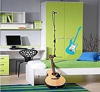 Weaeo 1 個/ロットおしゃれなブルーのギターのリムーバブルウォールステッカーホームアールデコウォールステッカー/壁紙