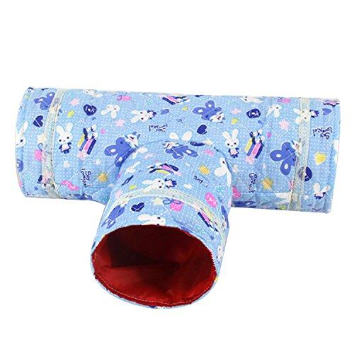 ゴシレ [Gosear] かわいい折りたたみ小動物3ウェイトンネルペット遊びおもちゃハムスターモルモットチンチ...