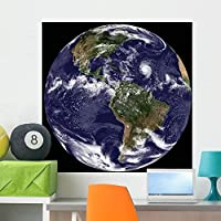 Full Earth Showing North Wall Mural by Wallmonkeys Peel and Stick Graphic (36 in H x 36 in W) WM8346 [並行輸入品]