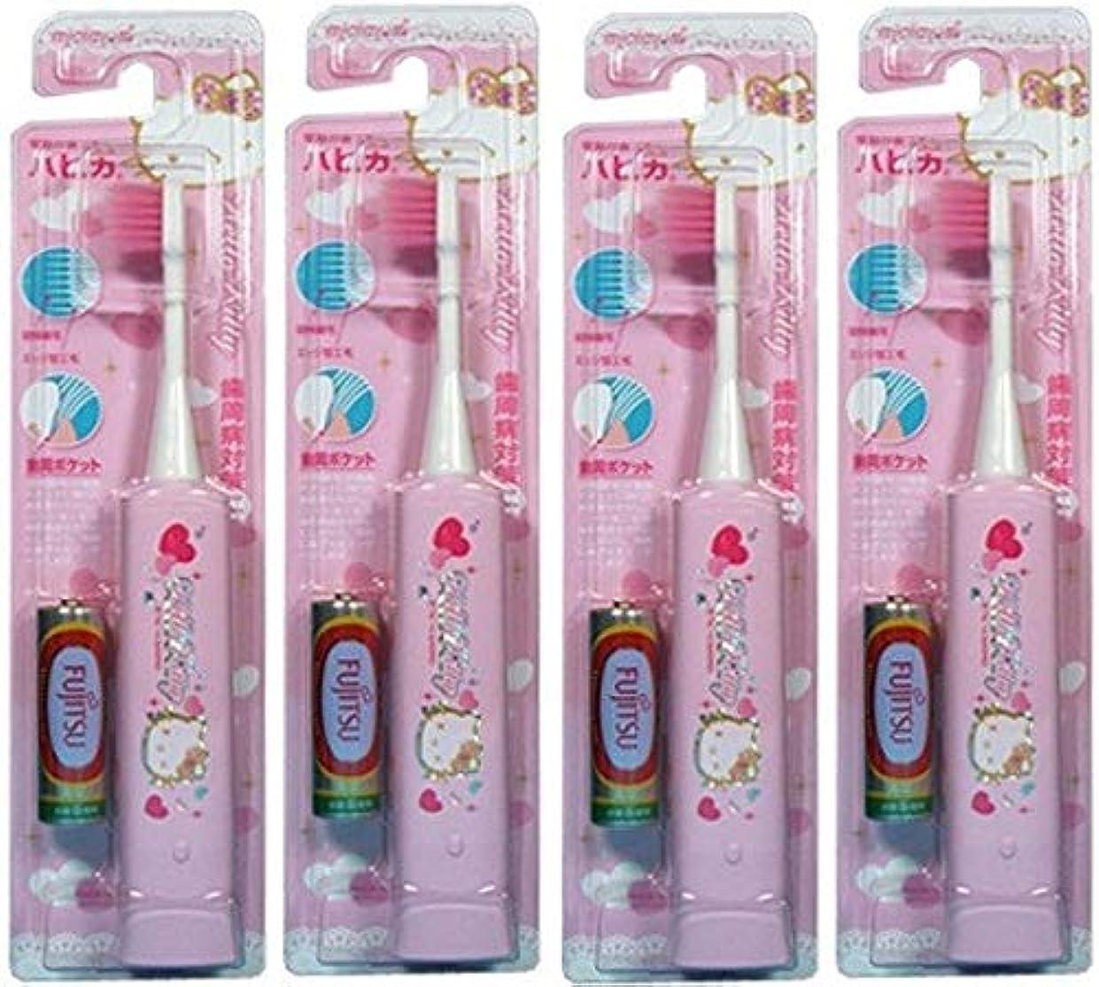 【まとめ買い】ハローキティハピカ超極細 ピンク×4個