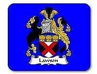 ローソンCoat of Arms/ローソン家紋マウスパッドby Carpe Diem Designs、アメリカ製 ブラック