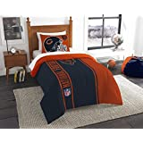 Chicago Bears–2Pieceセット全体ツインサイズ刺繍掛け布団セット–Includes : 1ツインComforter(64
