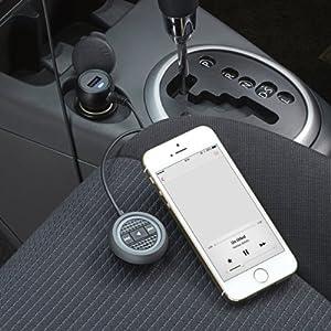 ELECOM エレコム iPhone6 iPhone6 Plus 対応 Bluetoothオーディオレシーバー AAC対応で高音質 2.4A出力USBポート付き ハンズフリー通話対応 ブラック