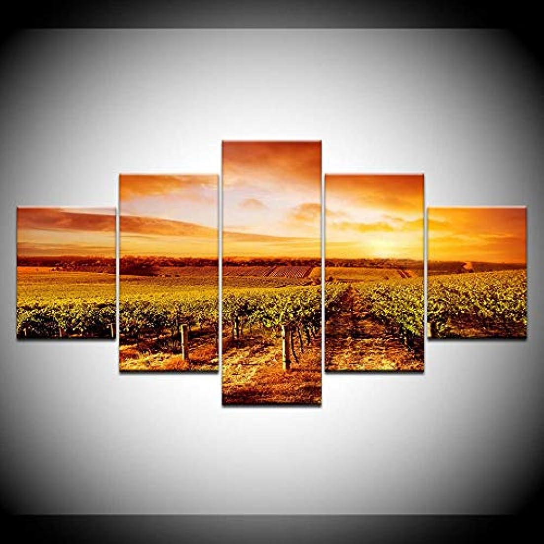 最大のドキュメンタリー親愛な5ピース現代の壁アート秋農村日没キャンバス絵画日没で海壁写真家の装飾アートワーク40X60Cmx2 40X80Cmx2 40X100Cmx1フレームなし
