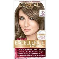 L'Oreal Excellence Creme Pro - Keratine # 6A Light Ash Brown - Cooler 1 Application (並行輸入品) [並行輸入品]