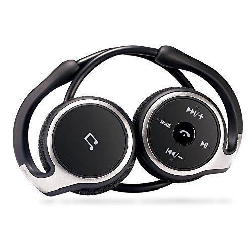 Bluetooth 4.1 GRDE ワイヤレスヘッドホン スポーツイヤホン 耳掛け式 マイク内蔵 耐汗 ノイズキャ...