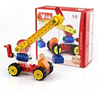 DUBIE ウォームギアクレーン デュプロ 互換 ブロック パズル おもちゃ 幼児