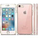 natura(ナチュラ) iPhone 7 ソフトケース クリアケース カバー 円弧状 アークライン 液晶保護フィルム付き 耐衝撃エアクッション ストラップホール 高品質TPU素材 ip7arc