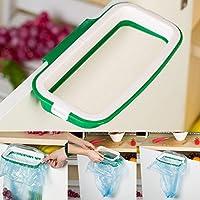ligntean便利RubbishカップボードキッチンキャビネットStander Hangingゴミ箱ラックゴミ袋ホルダー