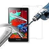 【国産ガラス素材】【riseシリーズ】Lenovo Tab2 Y!mobile / SoftBank Tab2 液晶保護強化ガラスフィルム 硬度9H 超薄0.33m 2.5D 2.5D ラウンドエッジ加工済 さらさら表面コート 指紋防止 防汚コーティング処理 飛散防止処理高品質ガラスフィルム