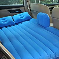 車の空気のベッド、車の旅行の膨張のマットレスモーターポンプと2つの枕、SUV、MPV、車とトラックのためのSUV後部座席クッション。ホーム、車、屋外キャンプユニバーサル、80 * 142センチメートル,Blue