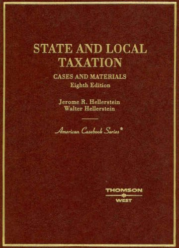Download State And Local Taxation: Cases and Materials (American Casebooks) 0314153764
