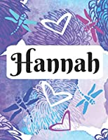 Hannah: Personalized Name Journal with blank lined paper