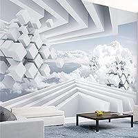 Wuyyii カスタム壁紙3D写真壁画木製ブリッジ廊下立体自然風景大壁画3D壁紙 - 150×120センチメートル