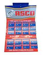 ASCO Super Stainless 両刃替刃 100枚入り(5枚入り20 個セット)【並行輸入品】