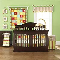 A-Z Reversible 4 Piece Baby Crib Bedding Set by Too Good by Jenny by Pem America