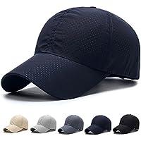 キャップ 帽子,WOOSOO 夏 秋 メッシュキャップ 通気性抜群 日除け UVカット 紫外線対策 男女兼用 登山 釣り ゴルフ 運転 アウトドアなどに 無地 全5色