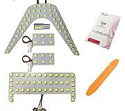トヨタC-HR 3チップSMD LED ルームランプセット(110発) 車種専用設計で加工無しで取り付け可能! 純正の電球と交換するだけですので取り付けは簡単! 裏面には両面テープ付きです。 3チップSMD LED使用で照射角度が広く、白く輝く様な明るさです。 さらに消費電力が少なく省エネ設計でバッテリーへの負荷も軽減!  ●製品仕様及び注意点 ●トヨタC-HR (ZYX10 NGX50 H28:12~) LEDルームランプ セット  発光色:ホワイト