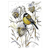 クロスステッチキット 刺繍キット 図案印刷 動物 鳥 刺繍工具付き 全2種 - 緑, 36×48cm 11CT