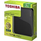 東芝 CANVIO BASICS ポータブルハードディスク 2.5インチUSB外付けHDD(3TB) HD-AC30TK ブラック 家電 パソコン周辺機器 パソコンサプライ [並行輸入品]