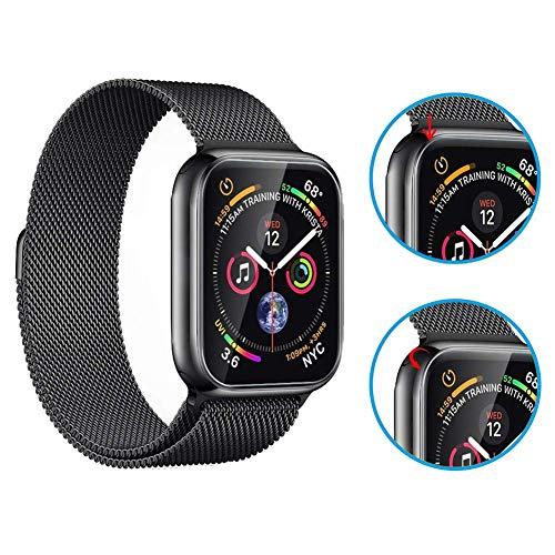 『Apple Watch 44mm フィルム COLIN【全面保護】Apple Watch Series 4 フィルム TPU素材 弧状のエッジ加工 Apple Watch Series 4 保護 フィルム 全面保護 アップルウォッチ フィルム 高透過率 HD画面 Apple Watch Series 4 44mm 対応【2枚入り】 (44MM)』の2枚目の画像