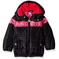 Hello Kitty Baby Girls Long Puffer Jacket with Hood