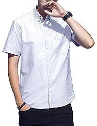 J-MOOSE シャツ メンズ 半袖 オックスフォード ボタンダウン カジュアル ワイシャツ クールビズ