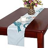 LKCDNG テーブルランナー 春の花 かわいい鳥 クロス 食卓カバー 麻綿製 欧米 おしゃれ 16 Inch X 72 Inch (40cm X 182cm) キッチン ダイニング ホーム デコレーション モダン リビング 洗える