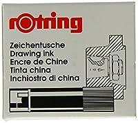 ロットリング 製図用インク・カートリッジ 黒 590-217 ブラック 00003110 【まとめ買い5個セット】
