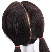 HAIRSW オーダーメイド フルウィッグ 人毛100% バージンレミーヘア Cカール 総手植え 絹皮膚 自然黑