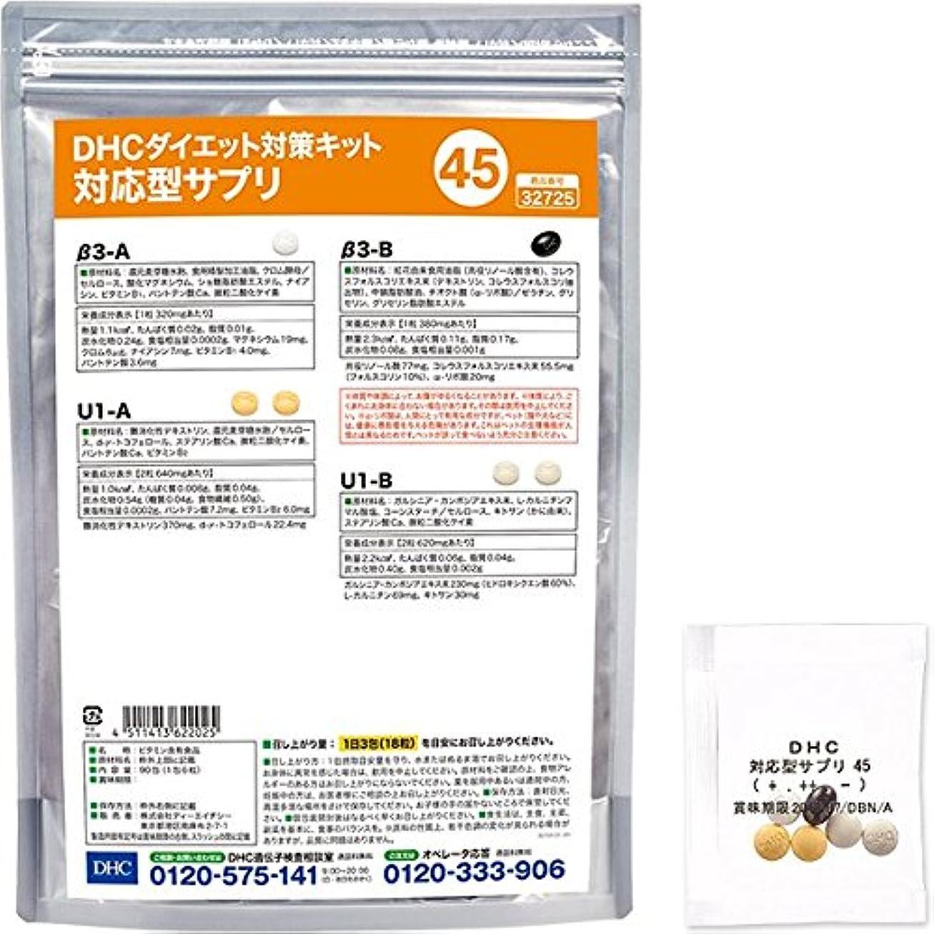 聖なる見分けるリフレッシュDHCダイエット対策キット対応型サプリ45
