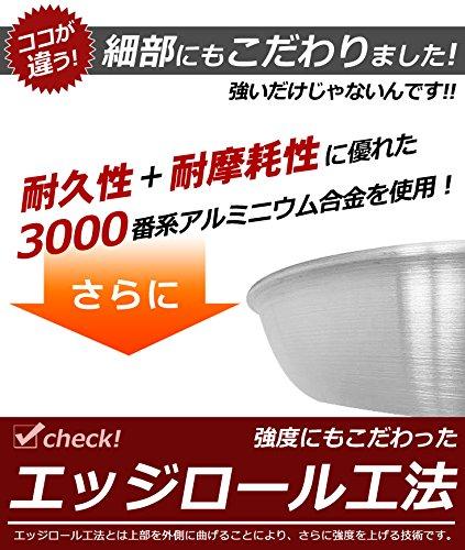 KIPROSTAR 業務用アルミフライパン 18cm(表面テフロン加工)