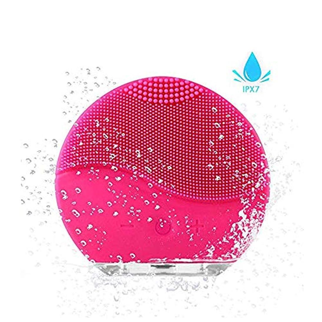 共感する高揚したいらいらさせる洗顔用フェイスブラシ ディープクレンジングスキンケア用フェイシャルクレンジングブラシ、防水シリコンフェイシャルクリーナーおよびMasagerエレクトリッククレンジングシステム