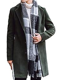 (オリログ)ALLYLOG 秋冬 メンズ メルトン コート チェスターコート 暖かい ロング丈 アウター