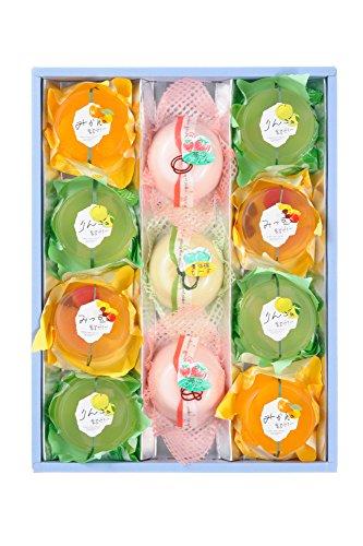 [創味菓庵] ゼリー プリン 詰め合わせ 果実ゼリーとプリンのハーモニー 中 5種 11個 国産 [包装紙済]