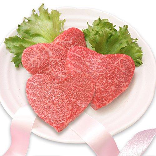 米沢牛 かわいい ハート型 赤身 モモ ステーキ110g×3 肉贈