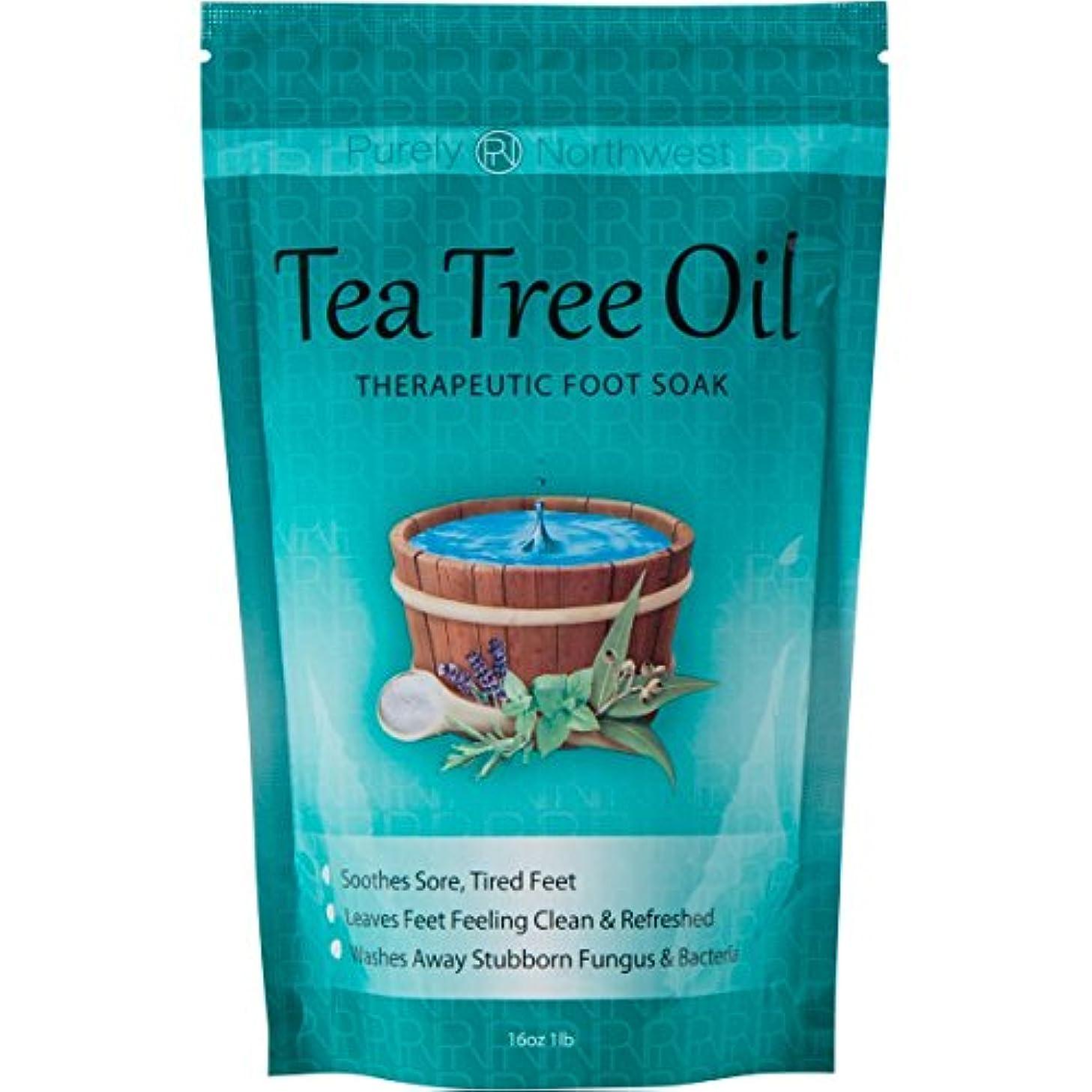 サミット大腿奨励ティーツリーオイル配合 フットバス用ソルト Tea Tree Oil Foot Soak With Epsom Salt 16oz (454g)