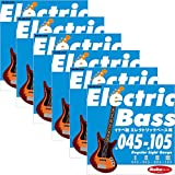 "Ikebe Original Electric Bass Strings ""イケベ弦 エレキベース用 045-105"" [Regular Light Gauge/IKB-EBS-45105]×6セット"