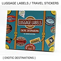 【LUGGAGE LABELS】ラゲッジレーベルズ トラベルステッカーズ 20枚入り<EXOTIC DESTINATIONS>