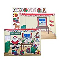 Fun Express 4/4082 Santa's Workshop Sticker Scenes 24 Pcs【クリスマス】【ツリー】 [並行輸入品]
