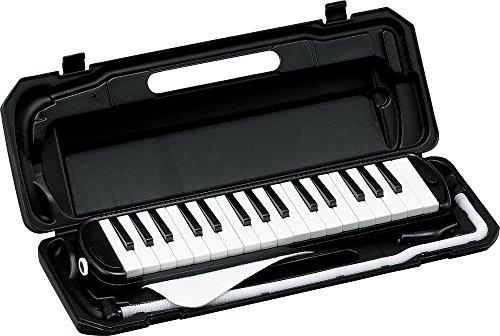 KC 鍵盤ハーモニカ ブラック 32鍵 P3001-32K/BK ドレミ表記シール・クロス付き