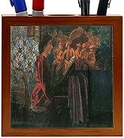 Rikki Knight Felix Vallotton Art the Piano Design 5-Inch Wooden Tile Pen Holder (RK-PH3087) [並行輸入品]