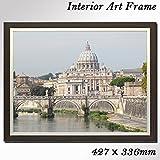 インテリア風景画 額付きアートパネル イタリア ローマの美しい風景画
