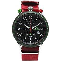 [アンペルマン]AMPELMANN 日本製 腕時計 メンズ クロノグラフ 回転式 24時間表示 ブラック AKS-4974-05 メンズ
