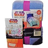 Jay Franco Star Wars Forces of DestinyツインPlush Blanketと枕カバーバンドル