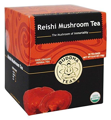 Buddha Teas - 100有機性草のReishiのきのこの茶%の - 1ティーバッグ