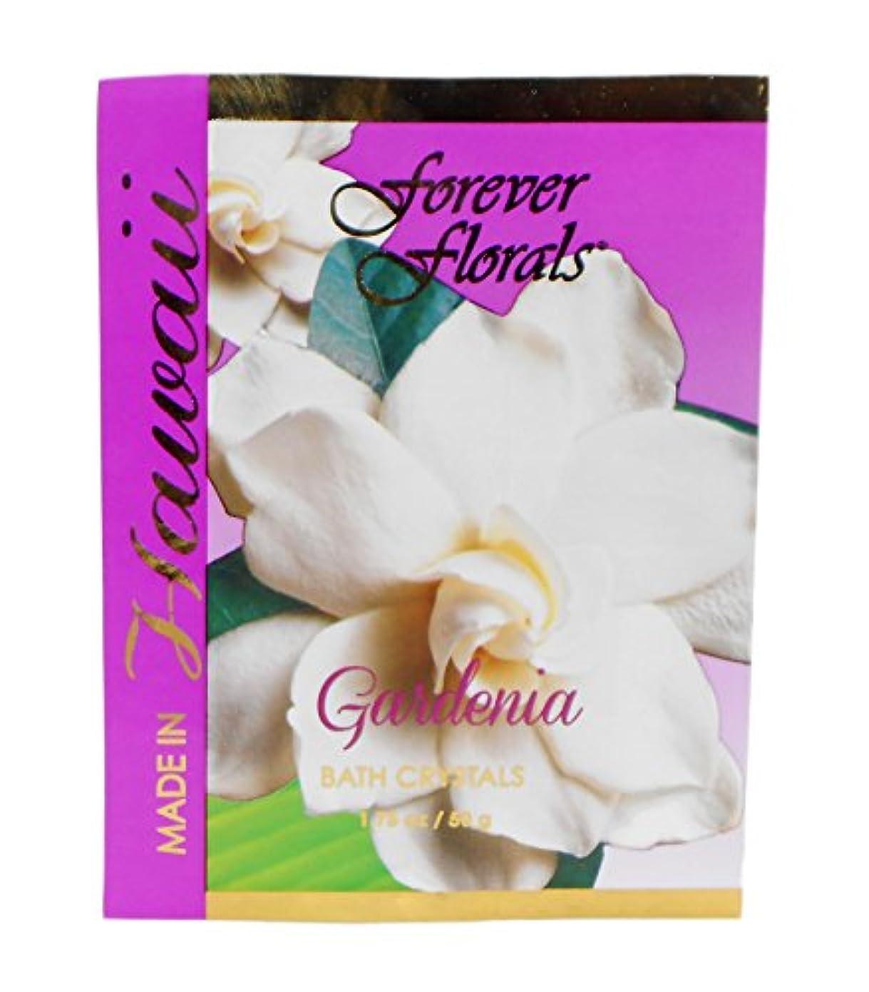 平手打ち五十新しい意味ハワイ お土産 Forever Florals Hawaii Bath Crystals バスソルト 50g ハワイアン雑貨 ハワイ雑貨 (ガーデニア)