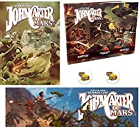 Bundle of John Carter of Mars RPG Core Rulebook and Phantoms of Mars Sourcebook and Narrator's Toolkit GM Screen and 2 Treasure Chest Buttons [並行輸入品]